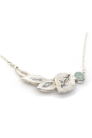 Kate Sydney Jewelry Aqua Leaf Necklace - Front cropped