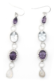 Kate Sydney Jewelry Gemstone Drop Earrings - Product Mini Image