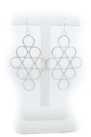 Kate Sydney Jewelry Honeycomb Silver Earrings - Front full body