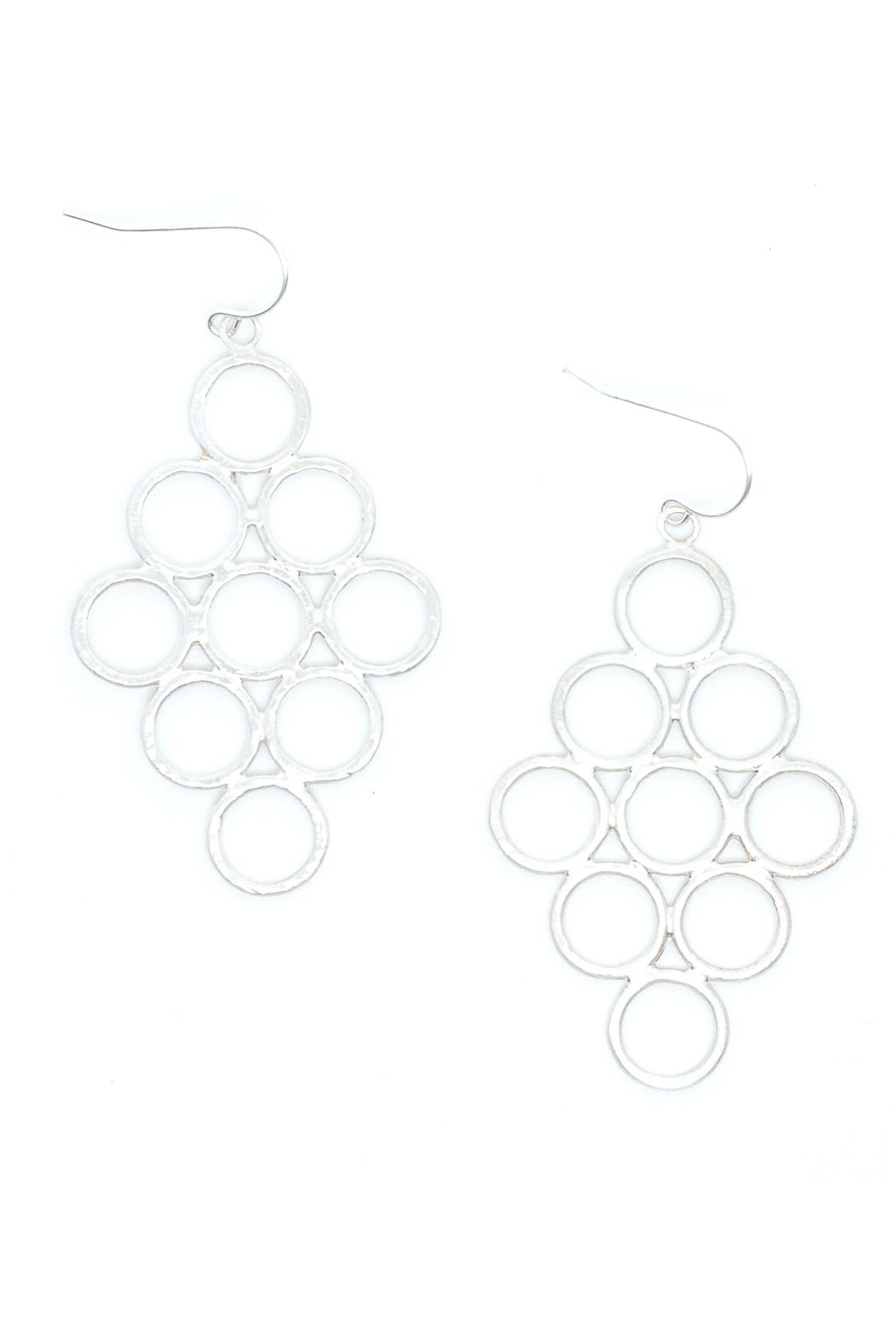 Kate Sydney Jewelry Honeycomb Silver Earrings - Main Image