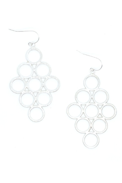 Shoptiques Product: Honeycomb Silver Earrings