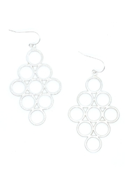 Kate Sydney Jewelry Honeycomb Silver Earrings - Product Mini Image