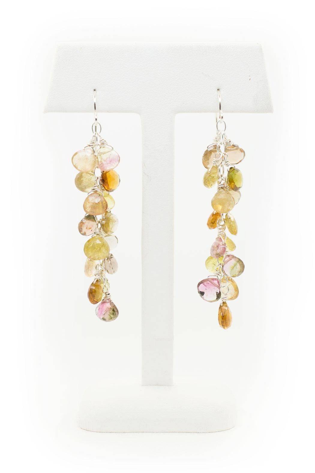 Kate Sydney Jewelry Mixed Tourmaline Earrings - Front Full Image