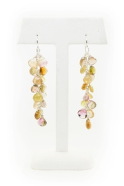 Kate Sydney Jewelry Mixed Tourmaline Earrings - Front full body