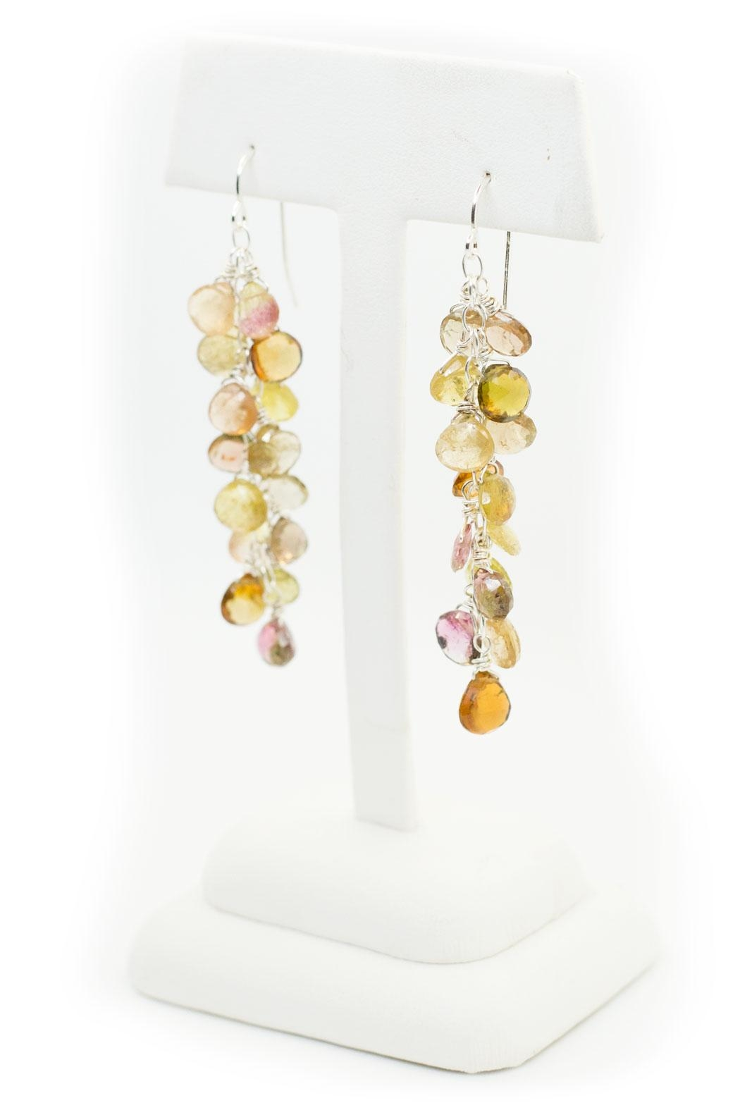 Kate Sydney Jewelry Mixed Tourmaline Earrings - Side Cropped Image