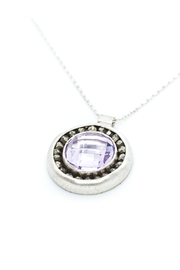 Kate Sydney Jewelry Pink Amethyst Necklace - Front full body