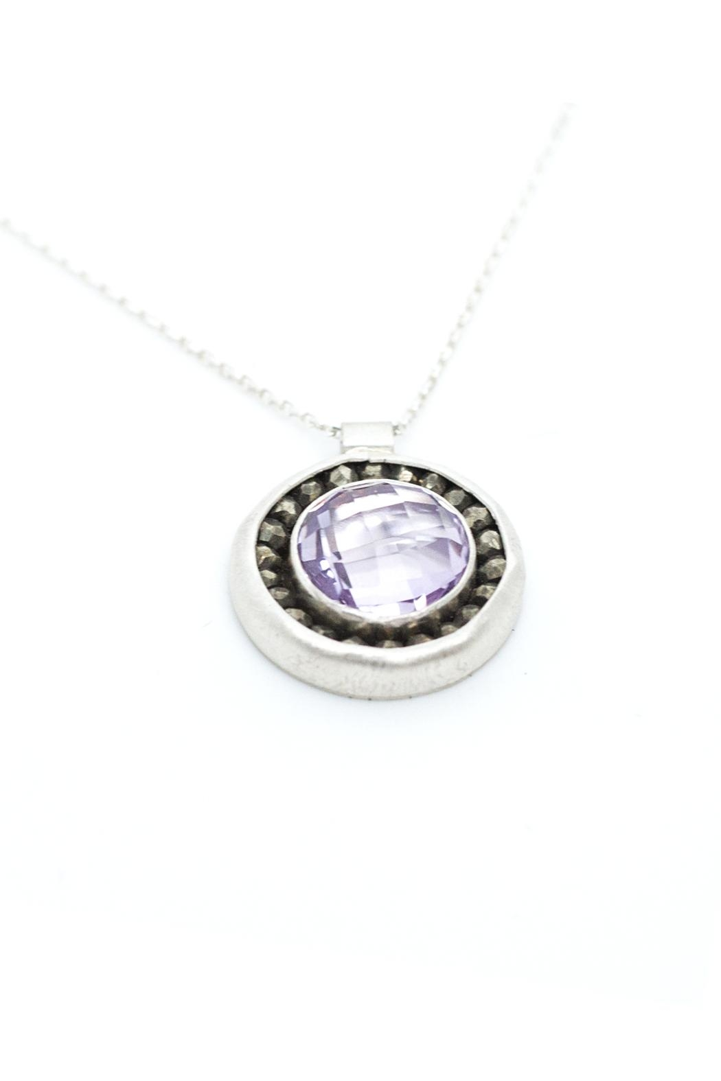 Kate Sydney Jewelry Pink Amethyst Necklace - Side Cropped Image