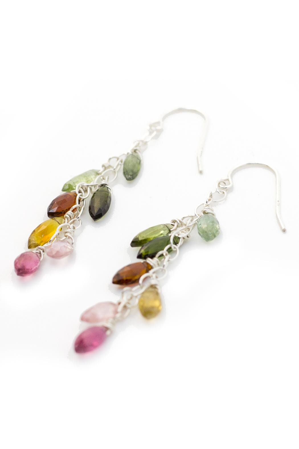 Kate Sydney Jewelry Rainbow Tourmaline Earrings - Front Full Image