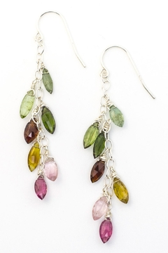 Kate Sydney Jewelry Rainbow Tourmaline Earrings - Product List Image