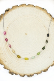 Kate Sydney Jewelry Rainbow Tourmaline Necklace - Side cropped