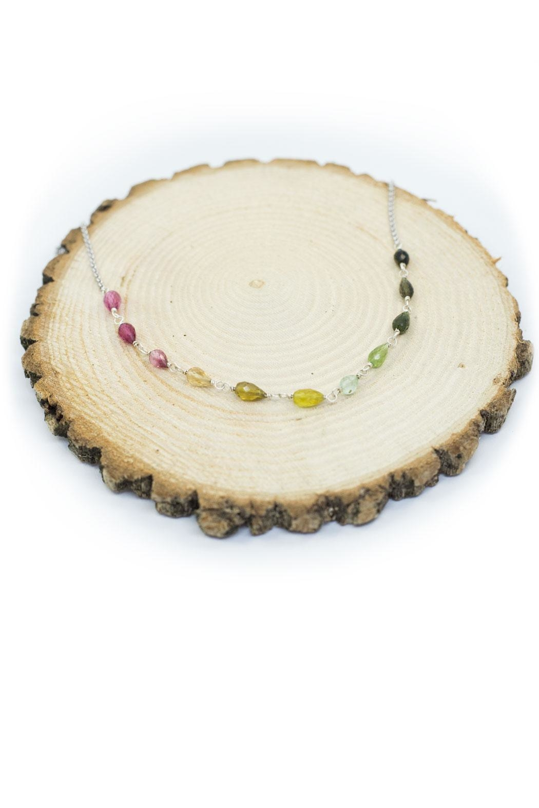 Kate Sydney Jewelry Rainbow Tourmaline Necklace - Front Full Image