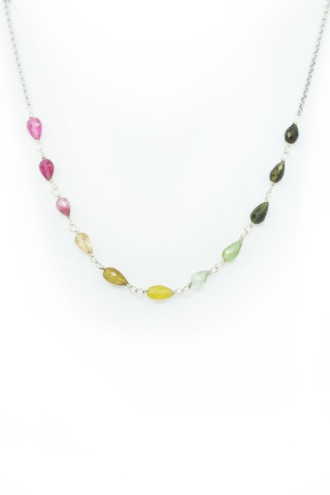 Kate Sydney Jewelry Rainbow Tourmaline Necklace - Main Image