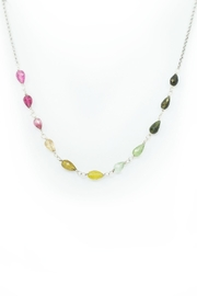 Kate Sydney Jewelry Rainbow Tourmaline Necklace - Front cropped