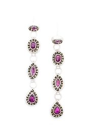 Kate Sydney Jewelry Ruby Statement Earrings - Front cropped