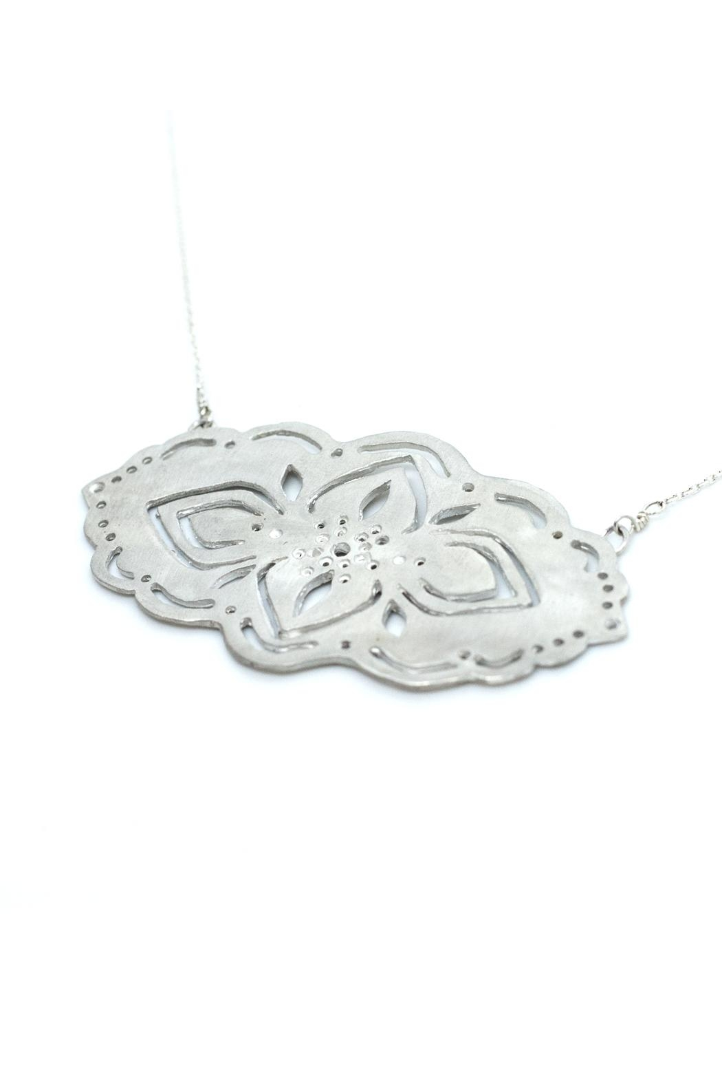 Kate Sydney Jewelry Silver Filigree Necklace - Front Full Image