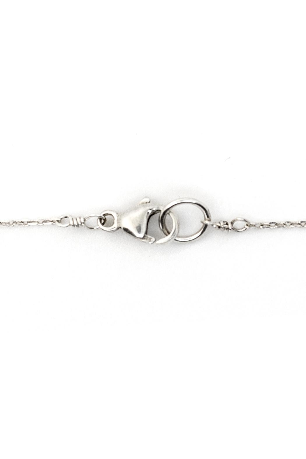 Kate Sydney Jewelry Silver Filigree Necklace - Back Cropped Image