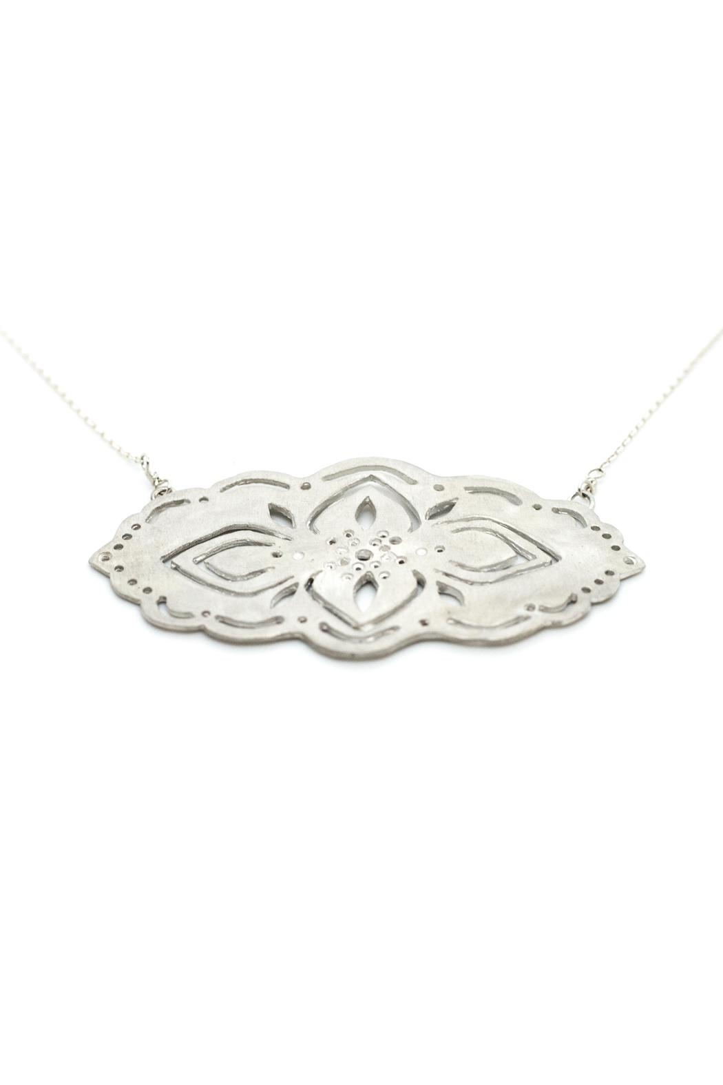 Kate Sydney Jewelry Silver Filigree Necklace - Side Cropped Image