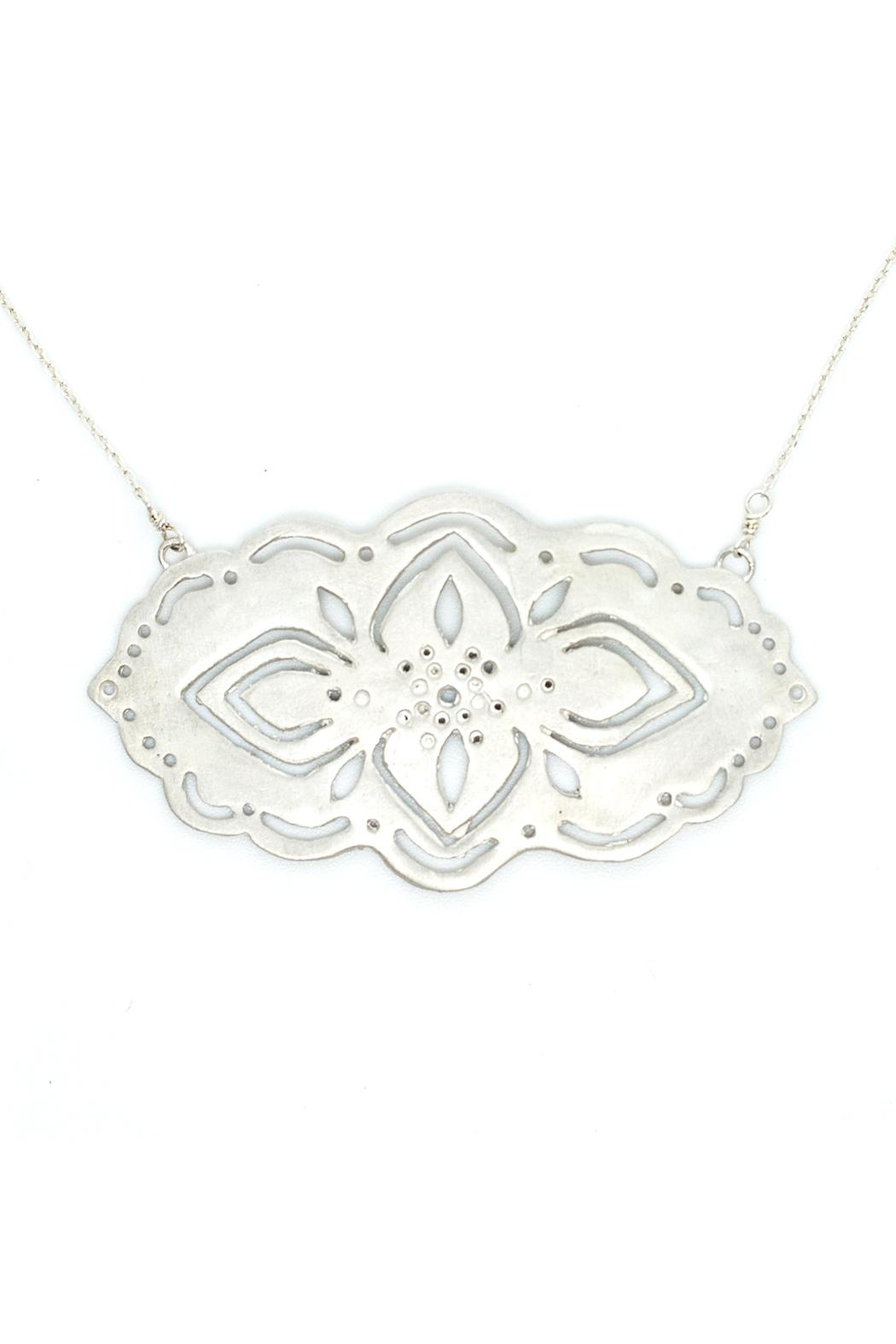 Kate Sydney Jewelry Silver Filigree Necklace - Main Image