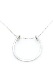 Kate Sydney Jewelry Silver Horseshoe Necklace - Back cropped