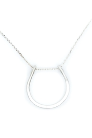 Kate Sydney Jewelry Silver Horseshoe Necklace - Front cropped