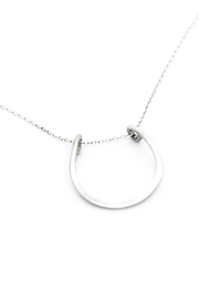 Kate Sydney Jewelry Silver Horseshoe Necklace - Front full body