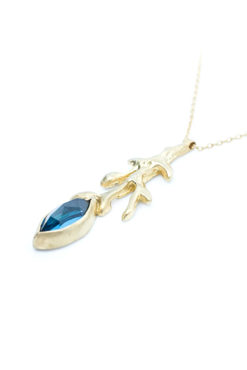 Kate Sydney Jewelry Topaz Branch Necklace - Front Full Image