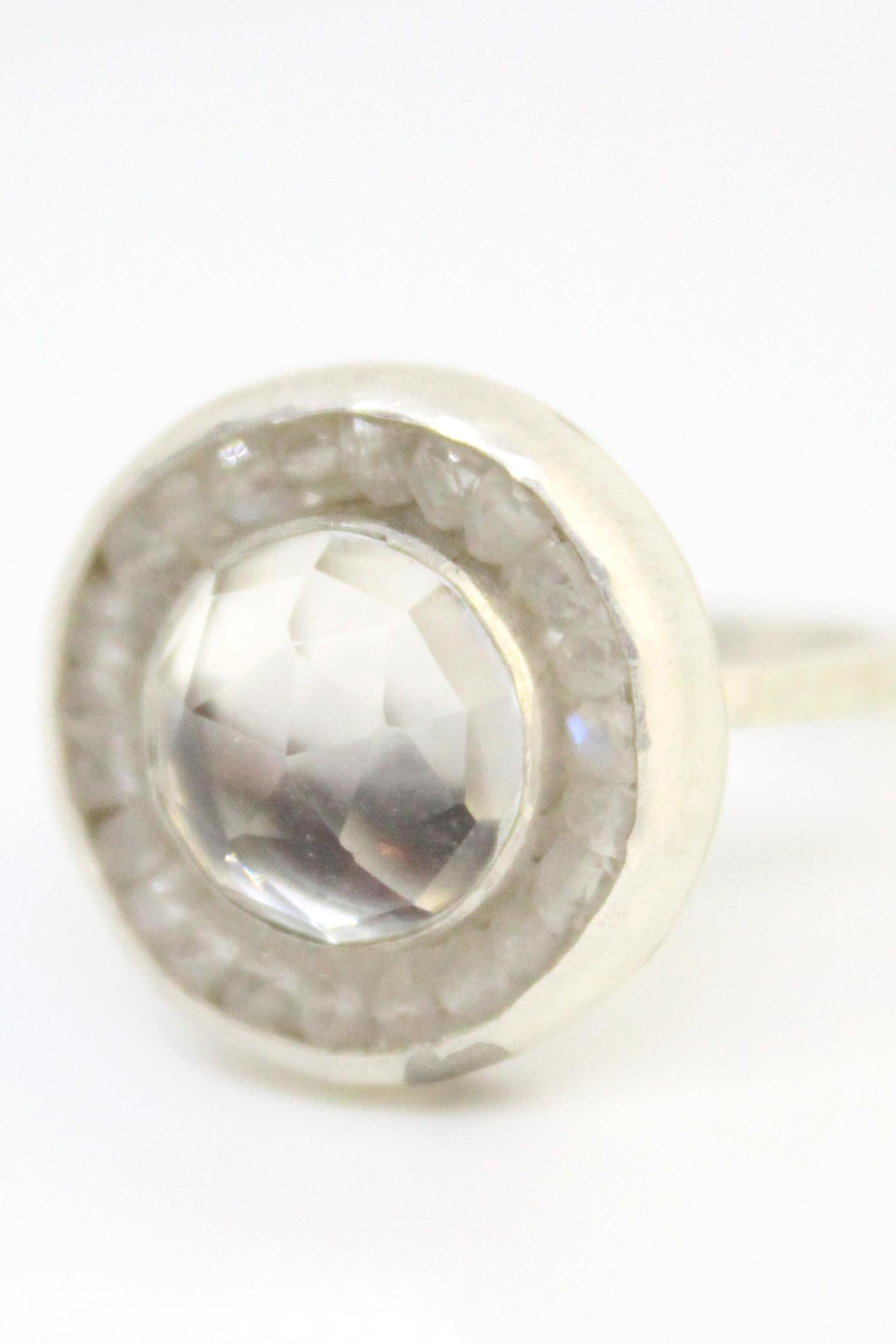 Kate Sydney Jewelry Topaz Moonstone Ring - Front Cropped Image