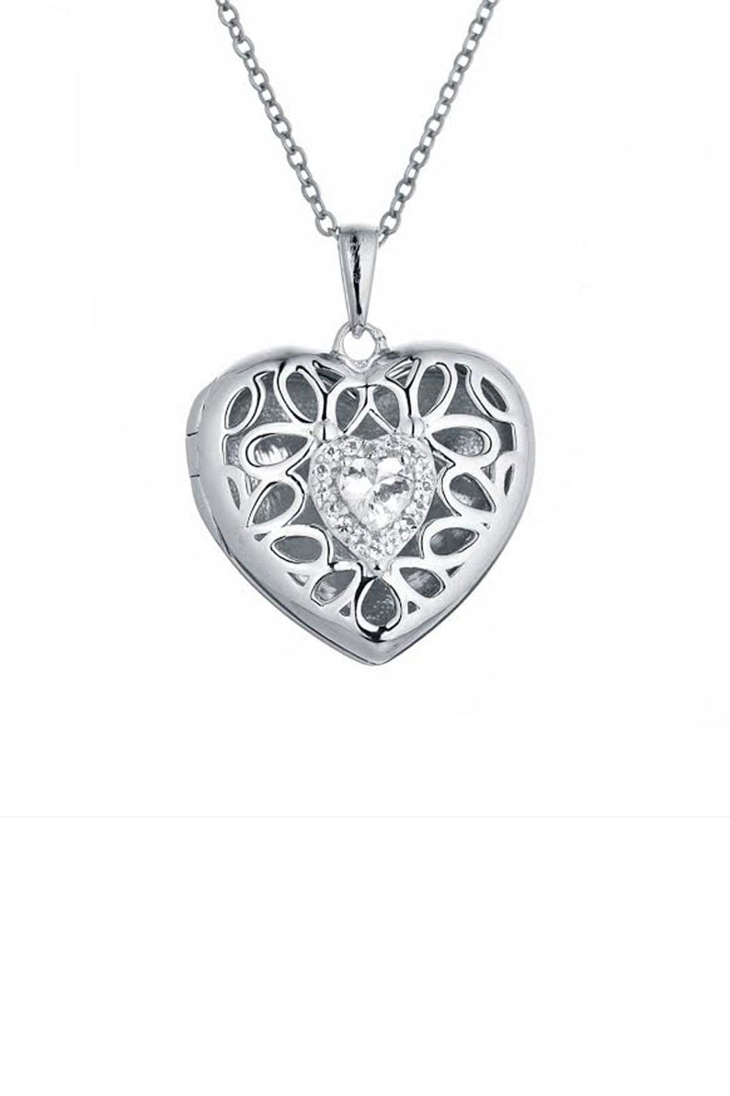 Lets Accessorize Katharine Locket Necklace - Front Cropped Image