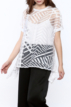 Katherine Barclay Asymmetrical Sheer Top - Product List Image
