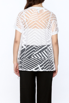 Katherine Barclay Asymmetrical Sheer Top - Alternate List Image