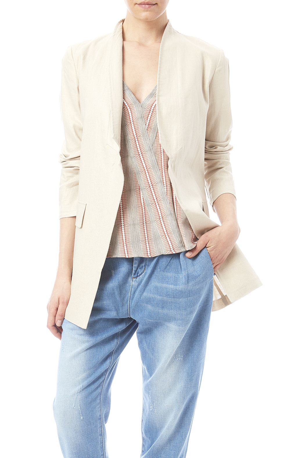 Katherine Barclay Metallic Linen Jacket - Main Image