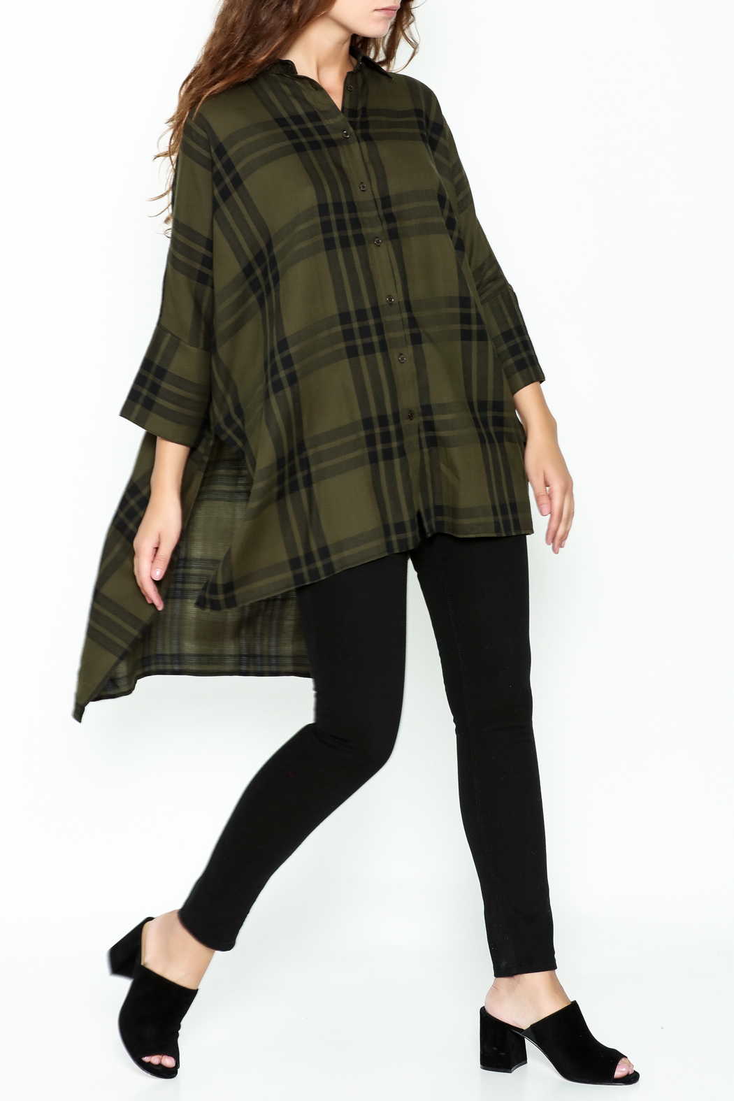 Katherine Barclay Oversized Button Up Tunic - Side Cropped Image