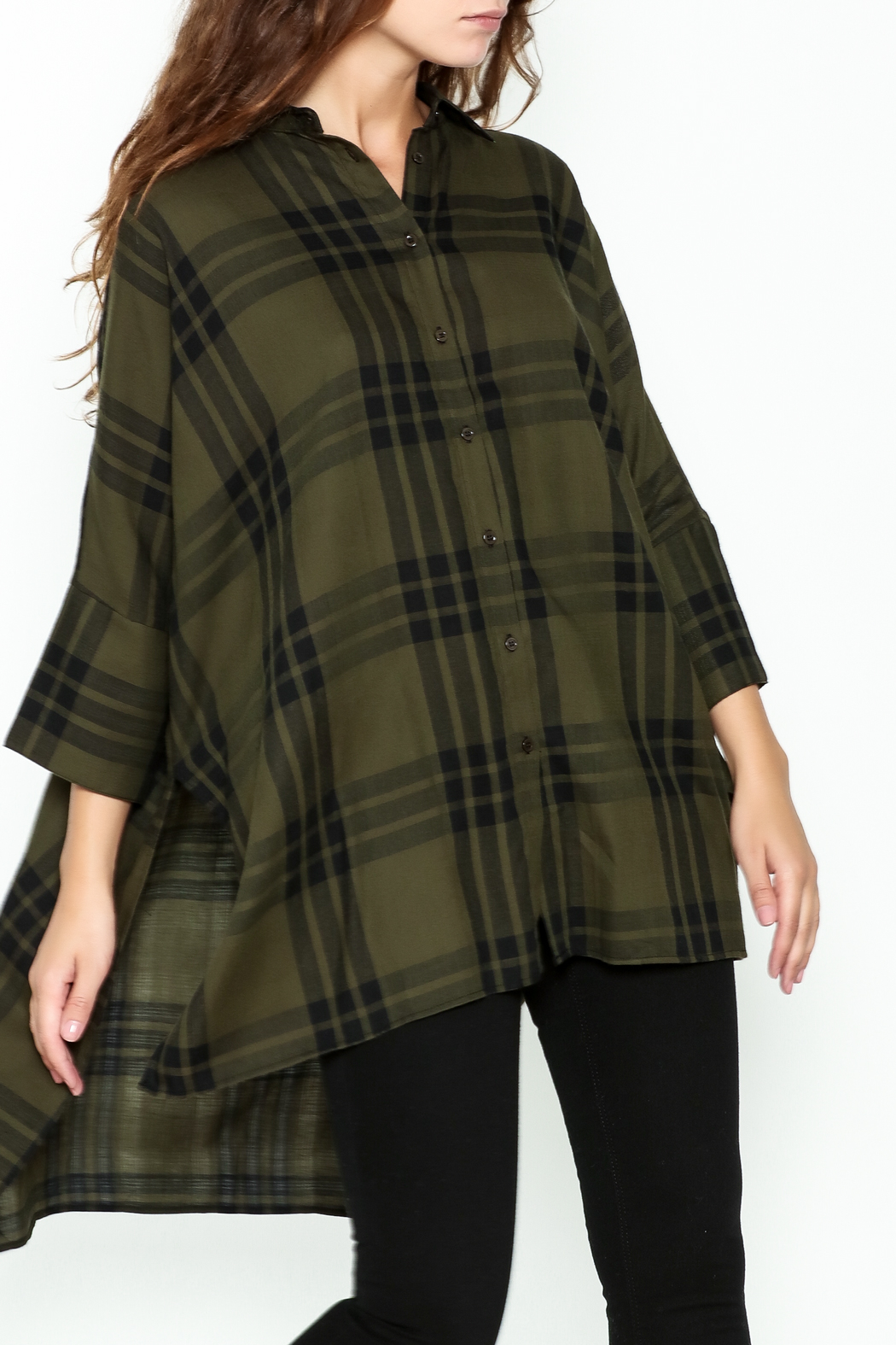 Katherine Barclay Oversized Button Up Tunic - Main Image