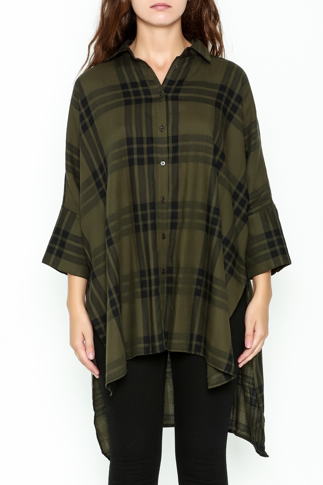 Katherine Barclay Oversized Button Up Tunic - Front Full Image
