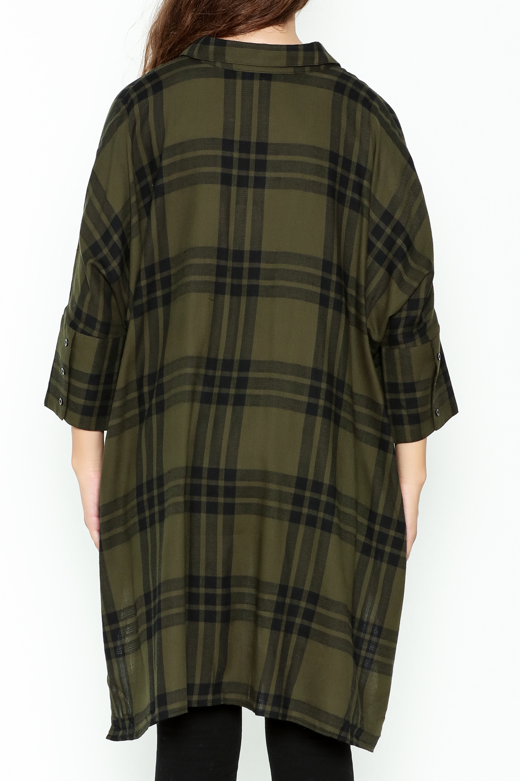 Katherine Barclay Oversized Button Up Tunic - Back Cropped Image