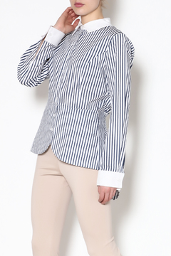 Katherine Barclay Stripe Button-Down Top - Product List Image