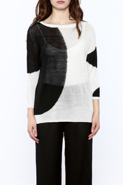 Katherine Barclay White And Black Sweater - Side cropped
