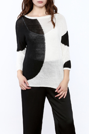 Katherine Barclay White And Black Sweater - Product Mini Image