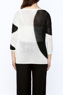 Katherine Barclay White And Black Sweater - Alternate List Image