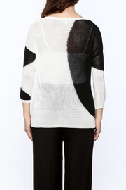 Katherine Barclay White And Black Sweater - Back cropped