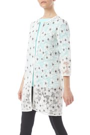 Katherine Barclay White Black Floral Jacket - Product Mini Image
