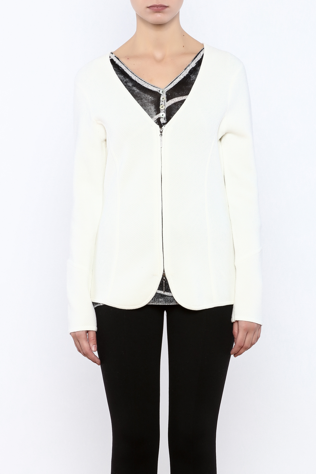 Katherine Barclay Winter White Sweater - Side Cropped Image