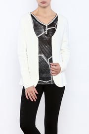Katherine Barclay Winter White Sweater - Front cropped
