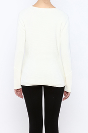 Katherine Barclay Winter White Sweater - Back cropped