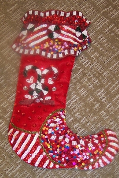 Katherine's Collection Candy Cane Decor Stocking - Alternate List Image