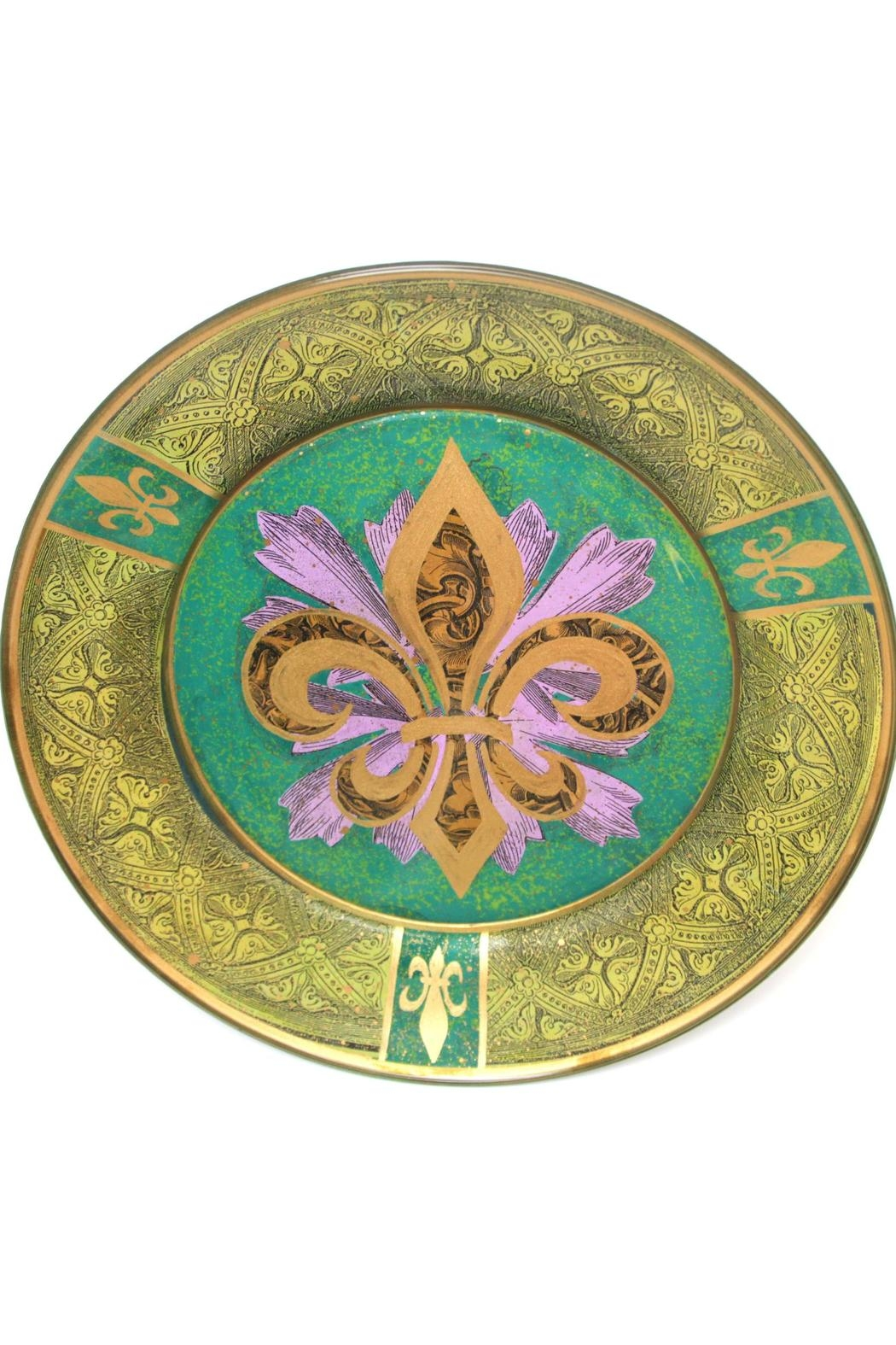 Katherine's Collection Fleur Plate Green - Main Image