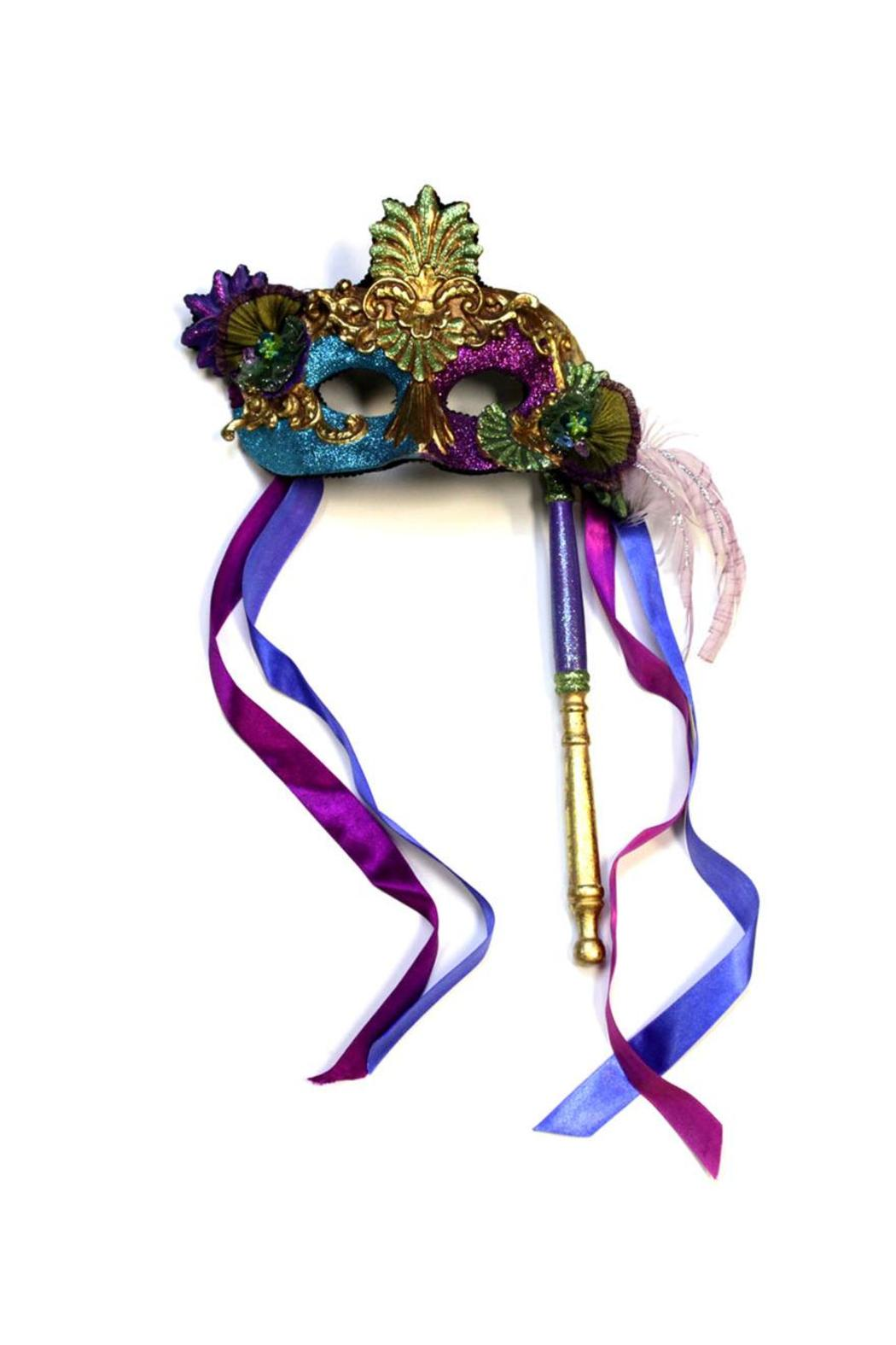 Katherine's Collection Venetian Mask On Stick - Main Image