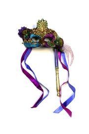 Katherine's Collection Venetian Mask On Stick - Front cropped