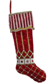 Katherine's Collection Peppermint Cuffed Stocking - Front cropped