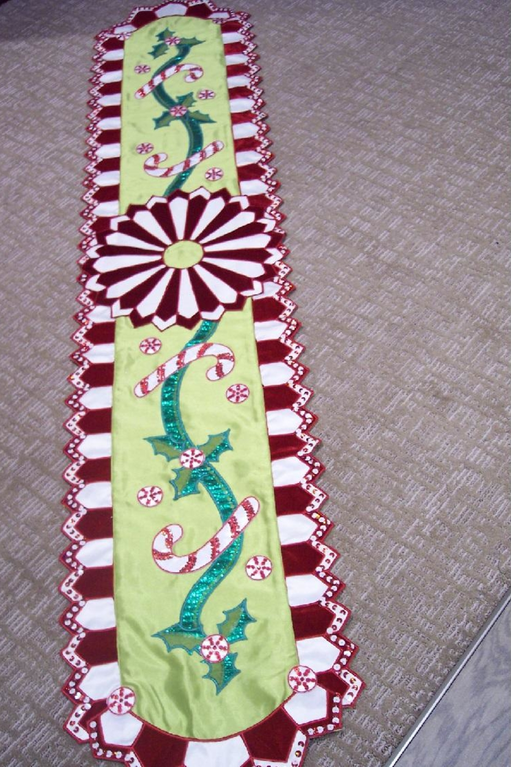 Katherine's Collection Peppermint Table Runner - Main Image